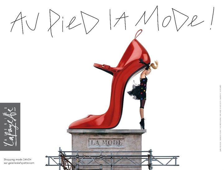 Au pied la mode ! pour les Galeries Lafayette